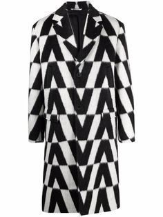 Valentino пальто с принтом Macro Optical