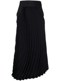 Mame Kurogouchi юбка миди с плиссировкой