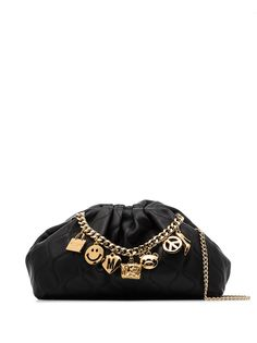 Moschino сумка на плечо с подвесками