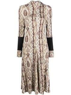 PAUL SMITH расклешенное платье с принтом пейсли