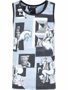 Dolce & Gabbana футболка без рукавов с принтом