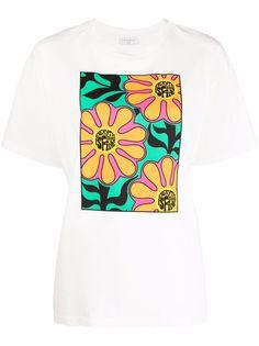 SANDRO футболка с цветочным принтом