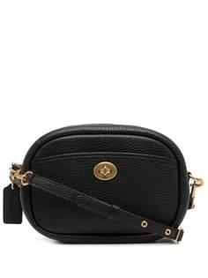 Coach каркасная сумка из зернистой кожи