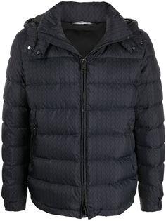 Valentino стеганая куртка с капюшоном