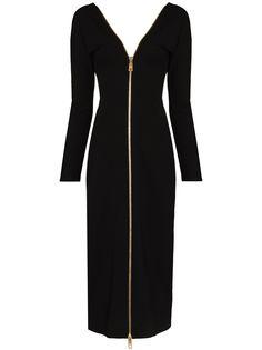 Dolce & Gabbana платье на молнии с V-образным вырезом