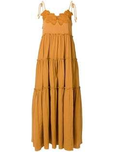 See by Chloé ярусное платье макси