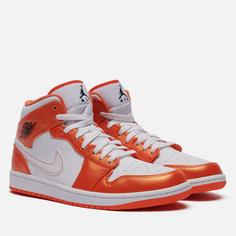 Мужские кроссовки Jordan Air Jordan 1 Mid SE, цвет оранжевый, размер 42 EU