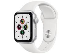 Умные часы APPLE Watch SE 40mm Silver Aluminium Case with White Sport Band MYDM2RU/A Выгодный набор + серт. 200Р!!!