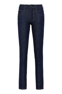 Темно-синие джинсы скинни Prada