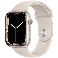 Смарт-часы Apple Watch Series 7 45 мм сияющая звезда, спортивный ремешок