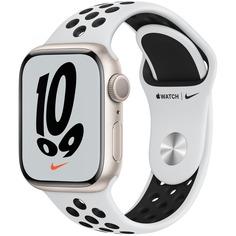 Смарт-часы Apple Watch Nike Series 7 41 мм сияющая звезда, спортивный ремешок