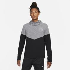 Мужская беговая футболка Nike Therma-FIT Run Division Sphere - Черный