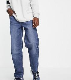 Синие выбеленные свободные джинсы New Look-Голубой