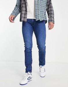 Узкие джинсы Wrangler Larston-Голубой