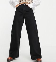Черные джинсы с очень широкими штанинами в стиле 90-х Bershka Petite-Черный цвет
