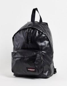 Черный блестящий рюкзак маленького размера с логотипом Eastpak-Черный цвет