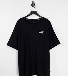 Черная футболка с маленьким логотипом Puma Plus Essentials-Черный цвет