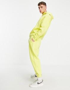 Джоггеры в стиле oversized выбеленного желтого цвета (от комплекта) ASOS DESIGN-Желтый