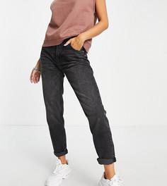 Черные выбеленные джинсы в винтажном стиле Bershka Tall-Черный цвет