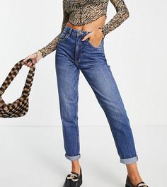 Темно-синие джинсы в винтажном стиле Bershka Tall-Голубой