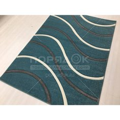 Ковер Silvano Sedna Carving 08444A M.Turquoise/M.Turquoise прямоугольный Турция, 1.2х1.7 м