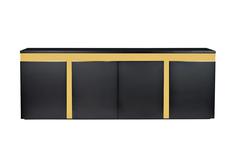 Комод marbella (garda decor) черный 240x87x45 см.