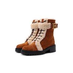 Замшевые ботинки Balmain x Rossignol Balmain