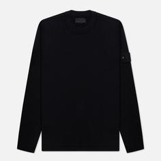 Мужской свитер Stone Island Ghost Piece Wool Crew Neck, цвет чёрный, размер L