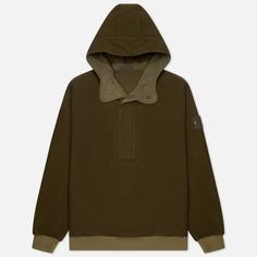 Мужская толстовка Stone Island Ghost Piece Nylon/Cotton Hoodie, цвет оливковый, размер XXL