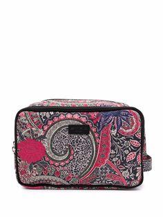 ETRO paisley-print logo-patch makeup bag