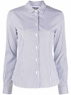 Moschino полосатая рубашка с длинными рукавами