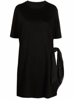 Givenchy платье-футболка с завязками