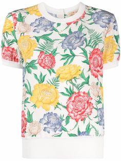 Salvatore Ferragamo футболка с цветочным принтом