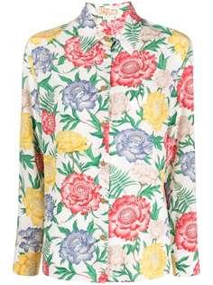 Salvatore Ferragamo рубашка с цветочным принтом