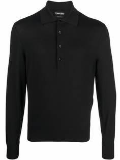TOM FORD шерстяная рубашка поло с длинными рукавами