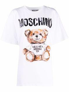 Moschino футболка Teddy Bear с логотипом
