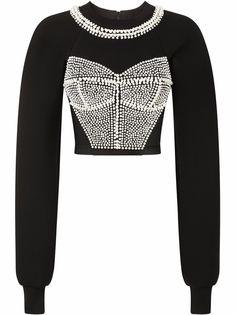 Dolce & Gabbana декорированный джемпер