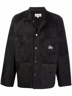 Stussy куртка с вышитым логотипом