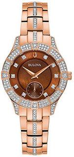 Японские наручные женские часы Bulova 98L284. Коллекция Phantom