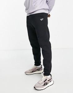 Черные джоггеры с маленьким логотипом Reebok Classics-Черный цвет