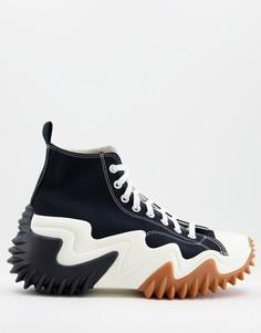 Черные с белым кроссовки Converse Run Star Motion-Черный цвет