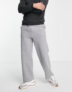 Серые джоггеры от комплекта с добавлением шерсти ASOS DESIGN-Серый