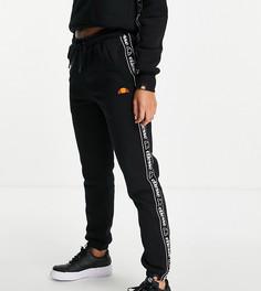 Черные джоггеры с отделкой тесьмой ellesse-Черный цвет
