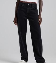 Черные свободные джинсы в стиле 90-х Bershka Petite-Черный цвет
