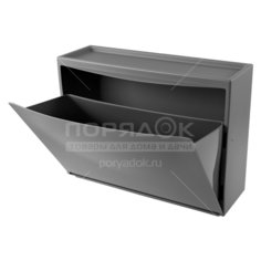 Комод обувница 1 ящик, 51.2х18.5х38 см, серый, С32814, Бытпласт