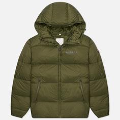 Мужской пуховик Napapijri Suomi Hooded, цвет зелёный, размер L